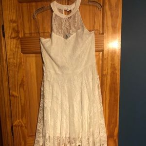 Ivory Brand New Sleeveless Handkerchief Dress